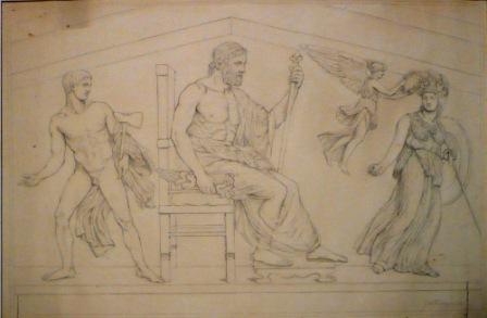 1894 tekening goden - Sixcollectie
