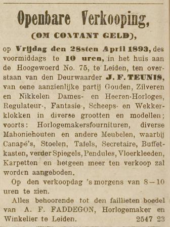 faillissement april 1893