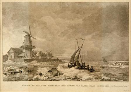 de koning bezoekt Gorinchem 1809