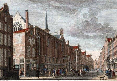 Kalverstraat met Nieuwezijdskapel - ca.1760