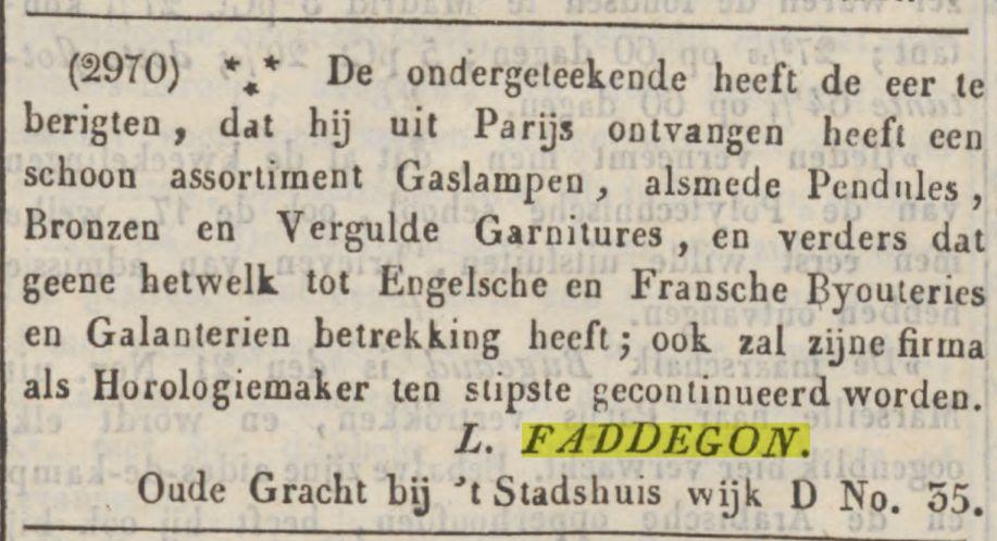 uit Parijs ontvangen (nov.1844)
