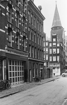 het Faddegon-complex aan de Haarlemmer Houttuinen (foto 1955)