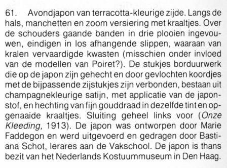 beschrijving japon Marie Faddegon