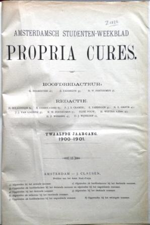 Propria Cures 1900-1901
